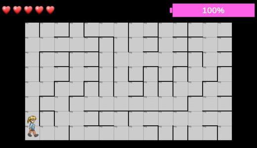 【ゲーム制作】高難易度迷路探索ゲーム