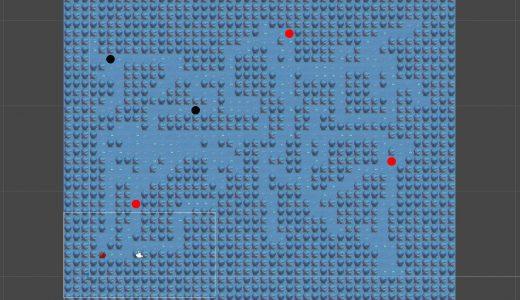 【ゲーム制作】マップを自動生成させてみました~